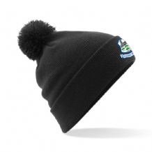 Crumlin United Bobble Hat Black